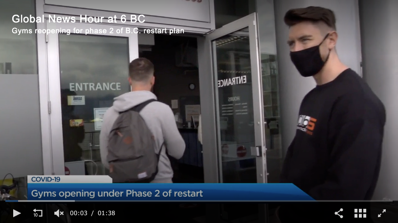 Global News-B.C. gyms reopen